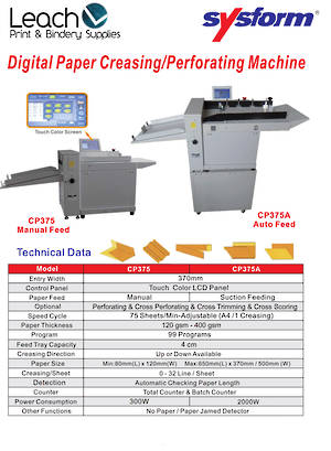 Digital Paper Creasing/Perforating Machine